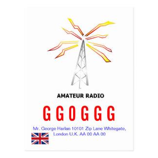 UK Radio AmatER QSL Design 1 Postcard