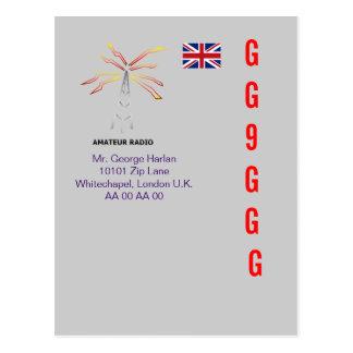 UK Radio Amateur QSL Design 1 Postcard