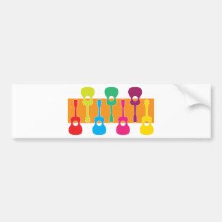 Uke Graphic Bumper Sticker
