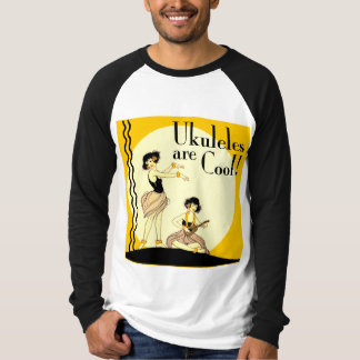 Ukes are Cool! Men's Long Sleeve Raglan Shirt