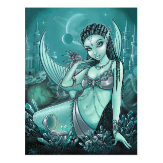 Uli Celestial Alien Mermaid Fae Dragon Postcard