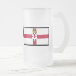 Ulster Flag Frosted Glass Mug