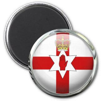Ulster Northern Ireland Flag Glass Ball 6 Cm Round Magnet