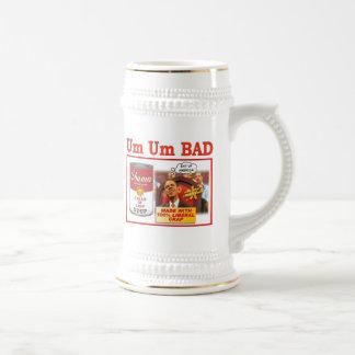 """UM UM BAD """"obama soup"""" Beer Steins"""