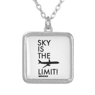 "umexx air  ""SKY IS THE LIMIT!"" Square Pendant Necklace"