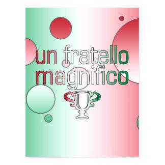 Un Fratello Magnifico Italy Flag Colors Pop Art Postcard