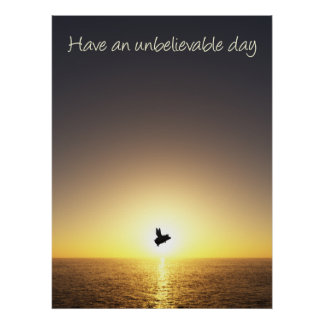 unbelievable day-flying pig poster