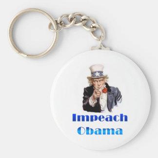 Uncle Sam Impeach Obama Basic Round Button Key Ring