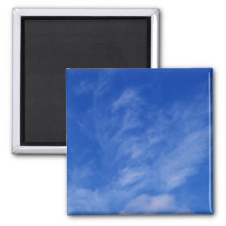 Unicorn or Dragon in the Clouds Square Magnet