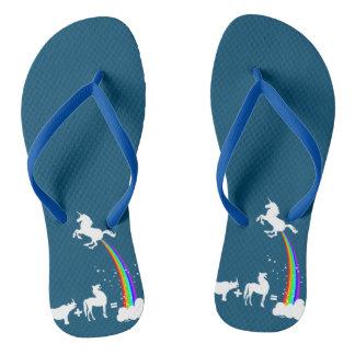 Unicorn origin flip flops