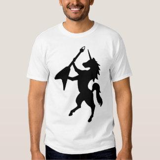 Unicorn playing guitar tshirt