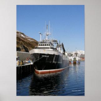 Unimak, F/T Fishing Trawler in Dutch Harbor, AK Poster