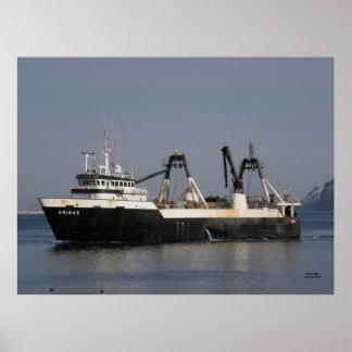 Unimak, Factory Trawler Fishing Vessel Poster