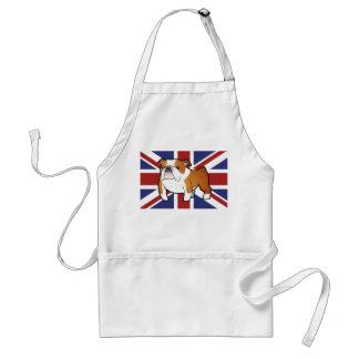 Union Jack Cartoon English Bulldog Standard Apron