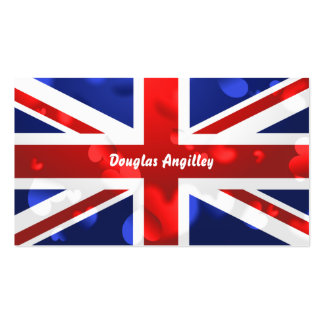 Union Jack Love, Pack Of Standard Business Cards