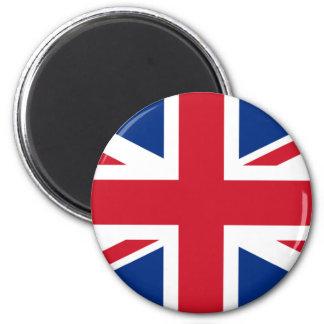 Union Jack United Kingdom 6 Cm Round Magnet