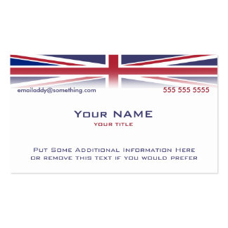 Union Jack version 1 Pack Of Standard Business Cards