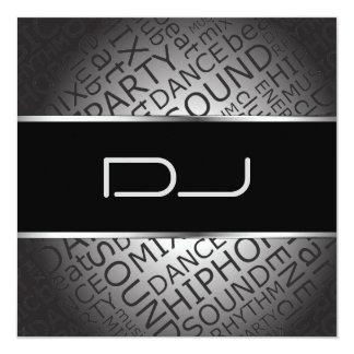 Unique DJ Invitation