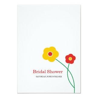 Unique Floral Bridal Shower Invitations