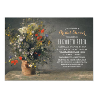 Unique Floral Country Vintage Bridal Shower 13 Cm X 18 Cm Invitation Card