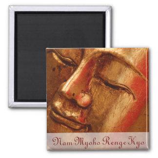 Unique Golden Buddha Designs Square Magnet