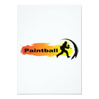 Unique Paintball 13 Cm X 18 Cm Invitation Card