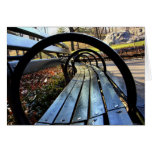 Unique Park Bench in Central Park, NYC Note Card