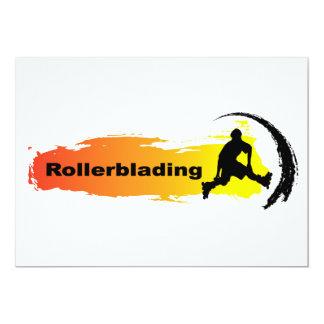 Unique Rollerblading 13 Cm X 18 Cm Invitation Card