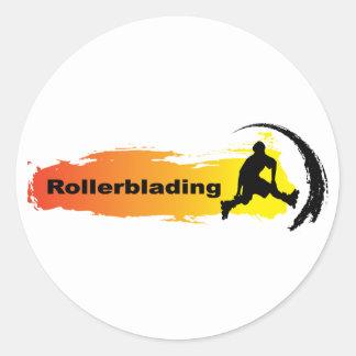 Unique Rollerblading Round Sticker