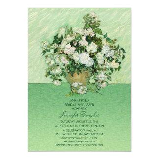 Unique Van Gogh Roses Floral Bridal Shower 13 Cm X 18 Cm Invitation Card