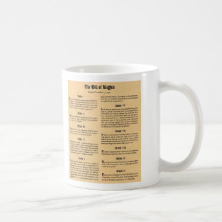 United States Bill of Rights Basic White Mug