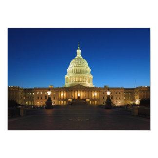 United States Capitol Building at Dusk 13 Cm X 18 Cm Invitation Card