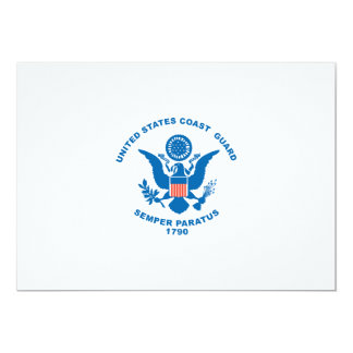 United States Coast Guard 13 Cm X 18 Cm Invitation Card