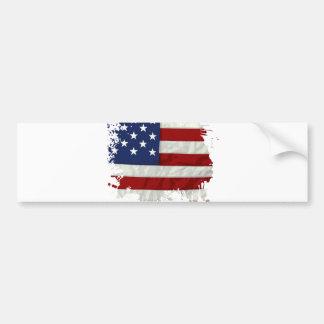 United States Flag Paint Splatter Bumper Sticker