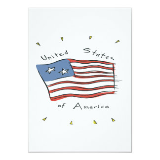 United States Of America 13 Cm X 18 Cm Invitation Card
