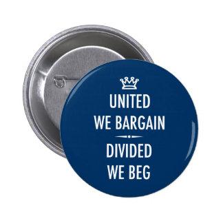 United We Bargain 6 Cm Round Badge