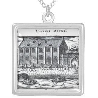 University of Leiden,'A Dutch Athens' Square Pendant Necklace
