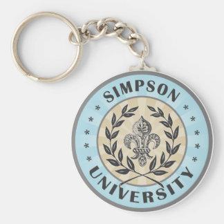 University Simpson Light Blue Basic Round Button Key Ring