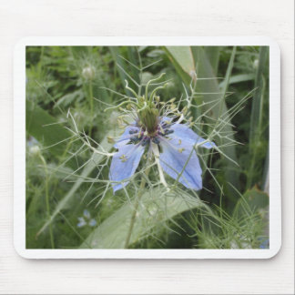Unusual Blue Flower Mouse Pad