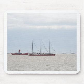 Unusual Three Masted Sailing Vessel Mouse Pad