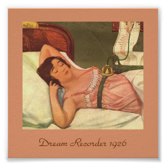 Unusual Vintage 1926 Image DREAM RECORDER Poster