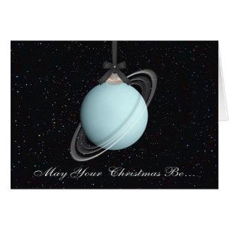 Uranus Planet Christmas Greeting Card