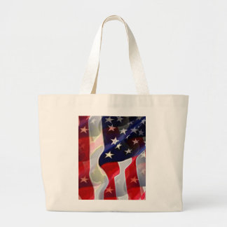 US American Flag Jumbo Tote Bag