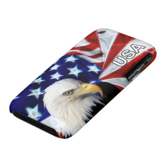 US Flag and Bald Eagle Patriot iPhone 3 Cases