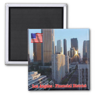 US U.S.A. Los Angeles Financial District Square Magnet