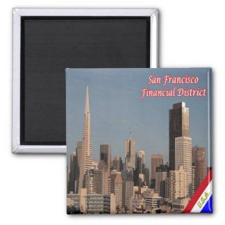 US U.S.A. San Francisco Alamo Square Financial Square Magnet