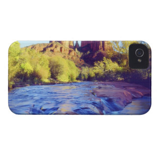 USA, Arizona, Sedona. Cathedral Rock reflecting 2 iPhone 4 Covers