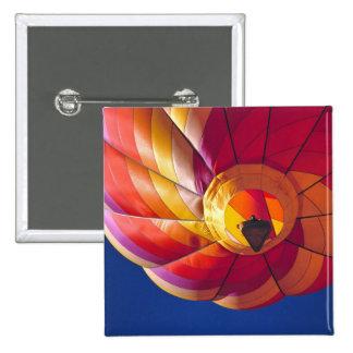 USA, Arizona, Val Vista. A colorful hot-air 15 Cm Square Badge