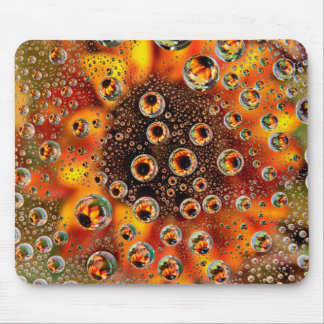 USA, Colorado, Lafayette. Water bubbles on glass 1 Mouse Pad