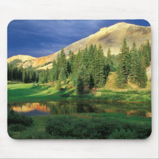 USA, Colorado. Red Mountain at sunset Mouse Pad